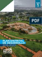 Plan Distrital de Desarrollo Bogotá Mejor para Todos
