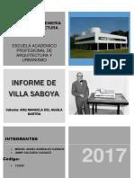 analisis de la villa saboya