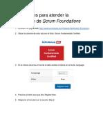 Instrucciones Para Certificación Scrum
