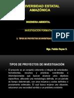 2. Tipos de Proyectos de Investigación