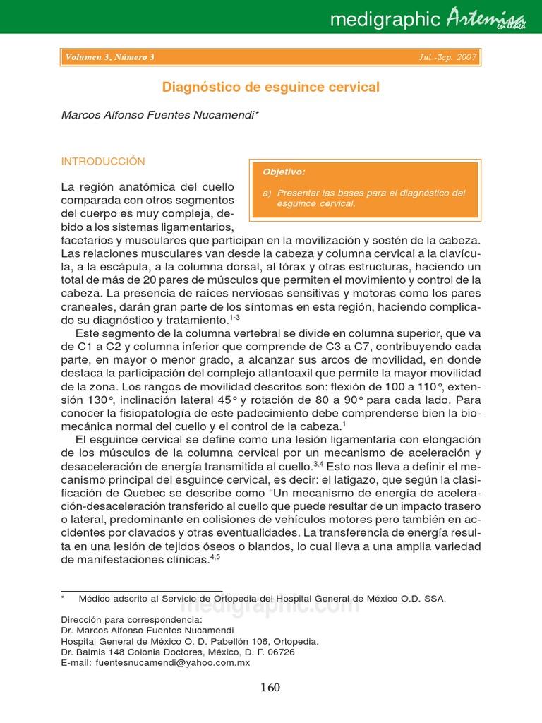 ejercicios para esguince cervical pdf