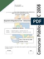 Ccv Ufc 2008 Ufc Engenheiro Civil Calculo Estrutural Prova