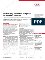 Minimally invasive surgery of ovarian cancer