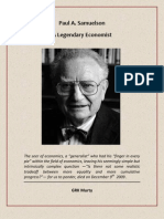 Paul A. Samuelson - A Legendary Economist