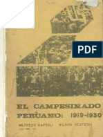 1972 Kapsoli Reategui El Campesinado Peruano