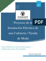 Proyecto de la Instalación Eléctrica de una Cafetería / Tienda de Moda