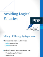 Avoiding Logical Fallacies - The Writing Center at UNT Dallas