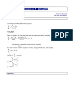 Differential Equations - Solved Assignments - Semester Spring 2006