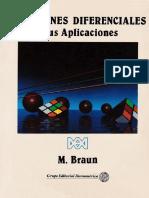 Ecuaciones Diferenciales Y Sus Aplicaciones Martin Braun Wree