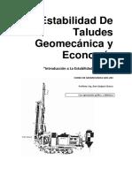 Estabilidad de Taludes Geomecánica y Economía