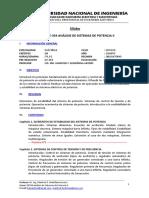 EE354 Sílabo - Análisis de Sistemas de Potencia II - 2017-II (Rev02-01.09.17-Mba)