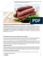 Anleitung Rindfleisch Hot Dog Würstchen Selber Machen (Wursten)