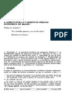 NICOL, W H (1972) - Agricultura e Desenvolvimento Econômico no Brasil.pdf