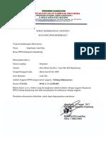 Surat Keterangan Anggota