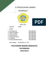 Laporan Tetap Solidifikasi Polsri