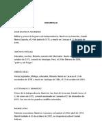 Pesonas Historicos de Venezuela