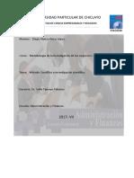 Metodo Cientifico y Investigacion Cientifica