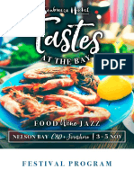 Tastes at the Bay 2017 Program