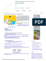 Konsep Matematika (KoMa)_ Sistem Persamaan Kuadrat Dan Kuadrat (SPKK)