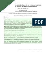 Ley N° 808 de aprobación del Contrato de Préstamo relativo al Programa de Gestión del Riesgo de Desastres II