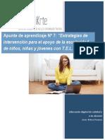 Apunte de aprendizaje Módulo 7- Estrategias de intervención cognitiva en niños, niñas y jóvenes con TEL