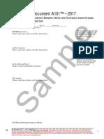 AIA Document A101–2017(Sample)