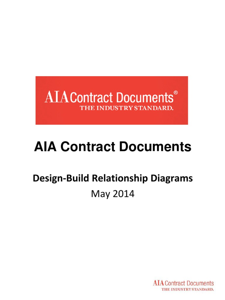 AIA Contract Documents-Design-Build Relationship Diagrams(2014 05