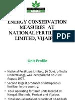 7. Energy Conservation Measures at NFL Vijaipur