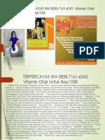 Terpercaya!! Wa 0858-7161-4243, Vitamin Otak Untuk Bayi Osb