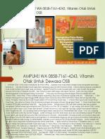 AMPUH!! WA 0858-7161-4243, Vitamin Otak Untuk Dewasa OSB