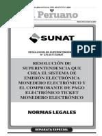 Resolución N° 276-2017/SUNAT monedero electrónico para el Nuevo RUS