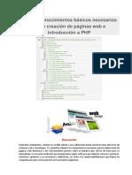 Tema 1 Conocimientos Básicos Necesarios Sobre Creación de Páginas Web e Introducción a PHP