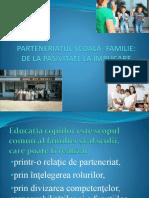 Parteneriatul Şcoală- Familie