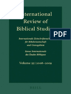 Lang Ed International Review Of Biblical Studies