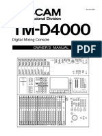 TM D4000 Manual