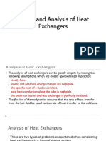 Design and Analysis of Heat Exchangers
