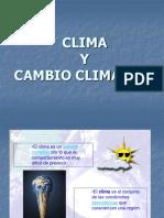 Clima y Cambio Climatico