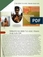 Terbukti!! Wa 0858-7161-4243, Vitamin Anak Autis Osb