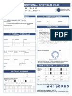 Diners Club Application Form