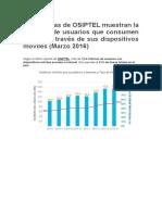 Estadísticas de OSIPTEL