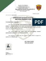 Cert Duty Status PO1 Ramos