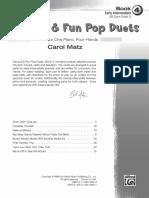 8 Duets Four Hands Carol Matz