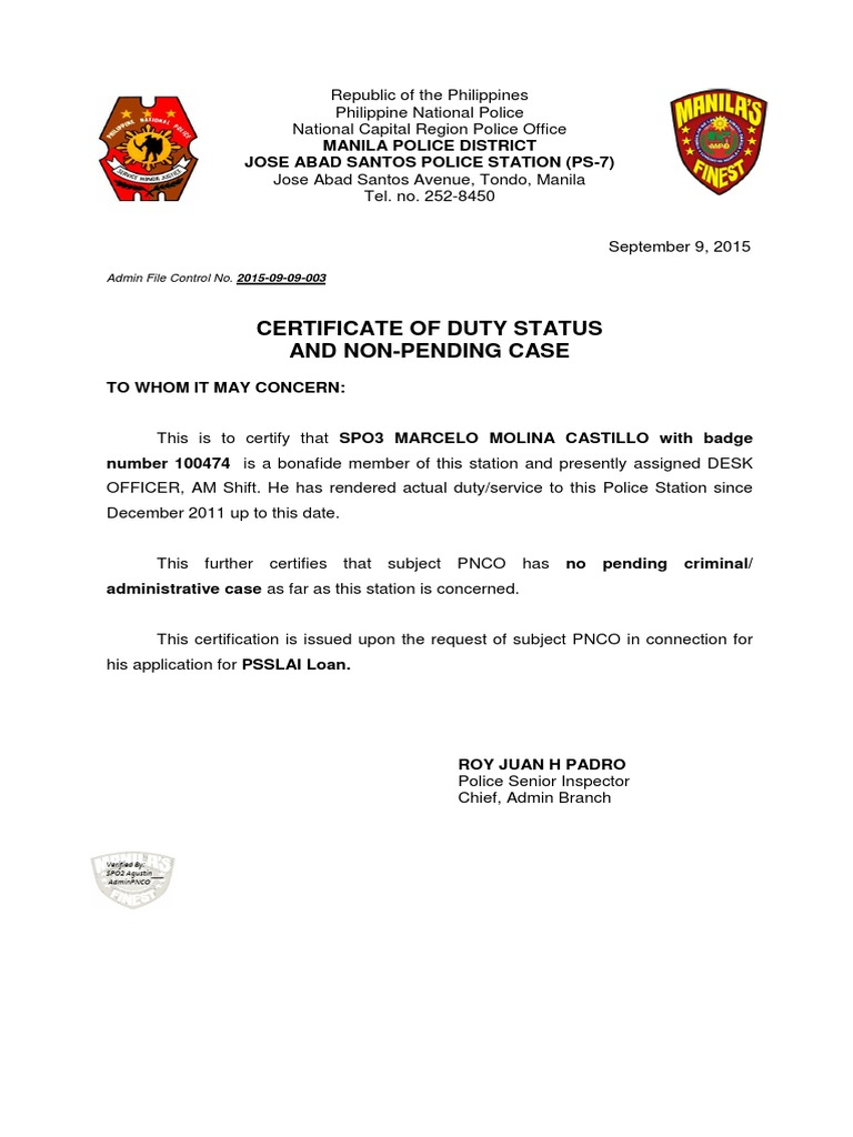 Spo3 Castillo Psslai Loan | Manila | Metro Manila
