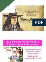 fechas civicas noviembre peru
