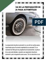 Importancia de la preparación de pintura para automóviles