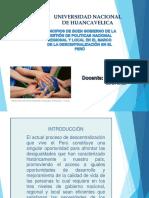 Principios de Buen Gobierno Nacional Regional y Local Marco de Ladescentralizacion en El Peru. Economia.