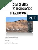 Informe de Pachacamac