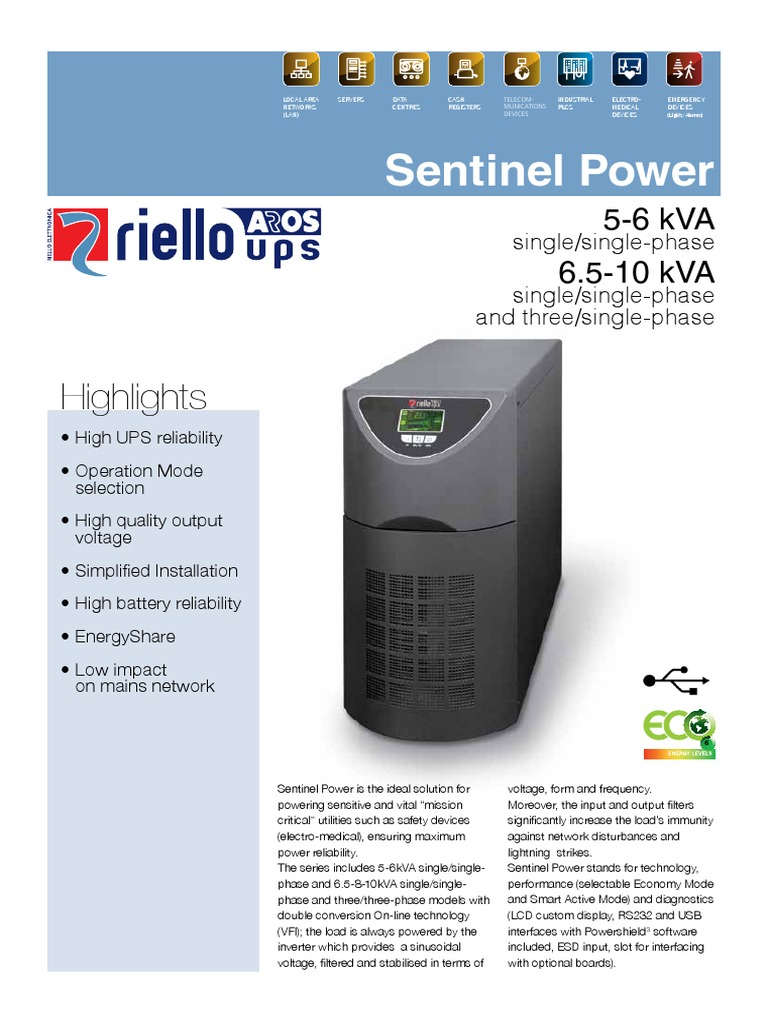 Riello Sentinel Power Spt Spw | Mains Electricity | Power Inverter