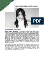 Profil, Biodata, Dan Data Lengkap Camila Cabello