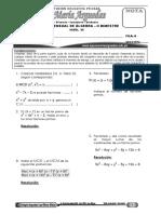 Examen Mensual de Álgebra (Nivel III) Fila A